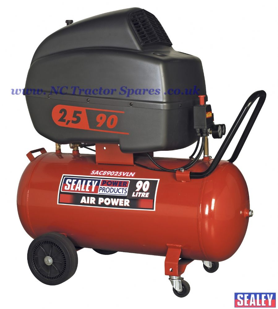 Compressor 90ltr V-Twin Direct Drive 2.5hp Low Noise